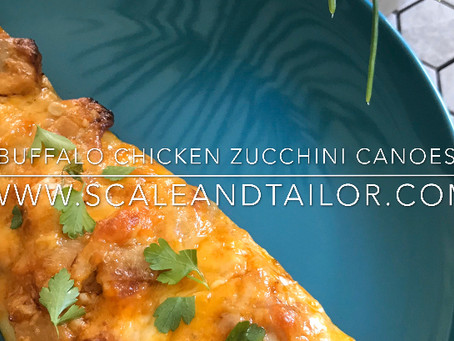 Buffalo Chicken Zucchini Canoes