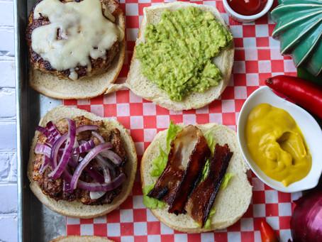Ground Chicken Burger | Chicken Burger Recipe | BBQ Chicken Burger