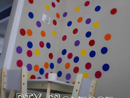 DIY Playroom Creative Corner: Wall Decals