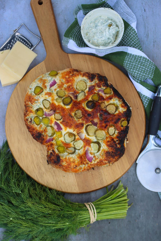 Pickle Pizza. Dill Pickle Pizza. Pickle Pizza Recipe