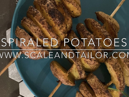 Easy Baked Spiraled Potatoes