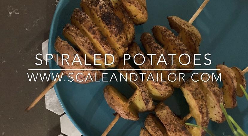 Baked Spiraled Potatoes