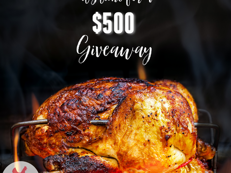 $500 Giveaway With @ChickenDotCA