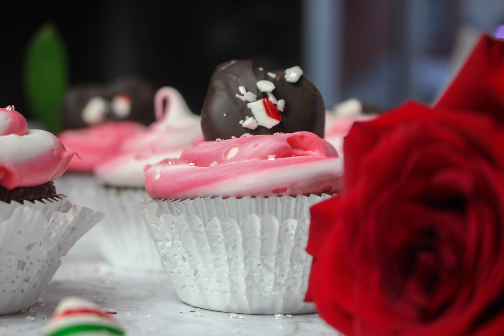 Peppermint Patty Cupcake. Easy Christmas Dessert. Smoked Cupcakes