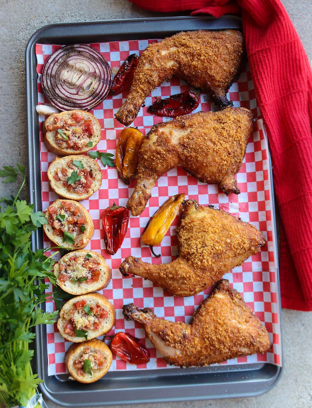Pork Panko Chicken Legs. Smoked Chicken Legs. BBQ Chicken Leg Recipe