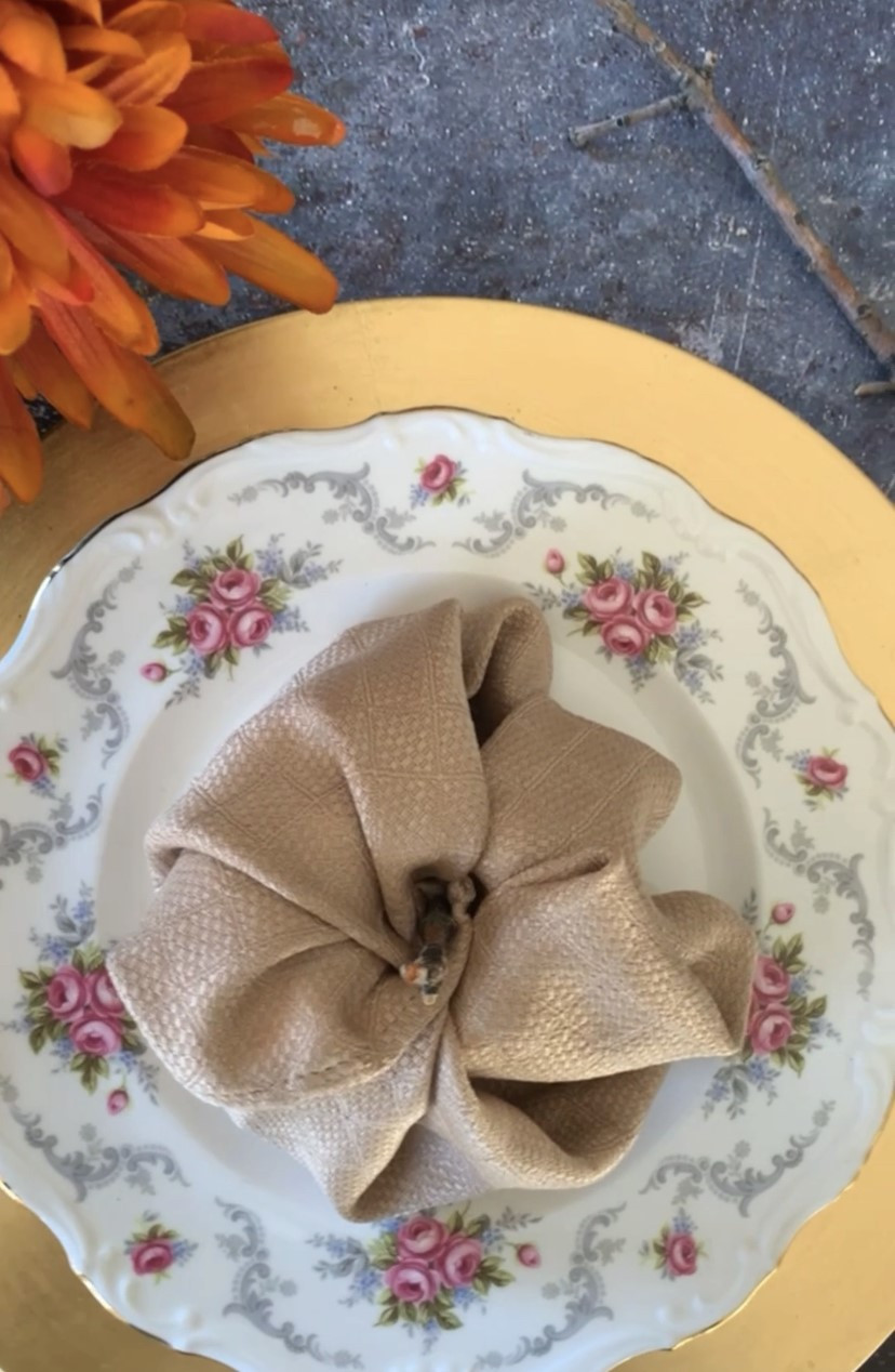 Pumpkin Napkin Fold Napkin Folding Thanksgiving Napkin Folding Ideas