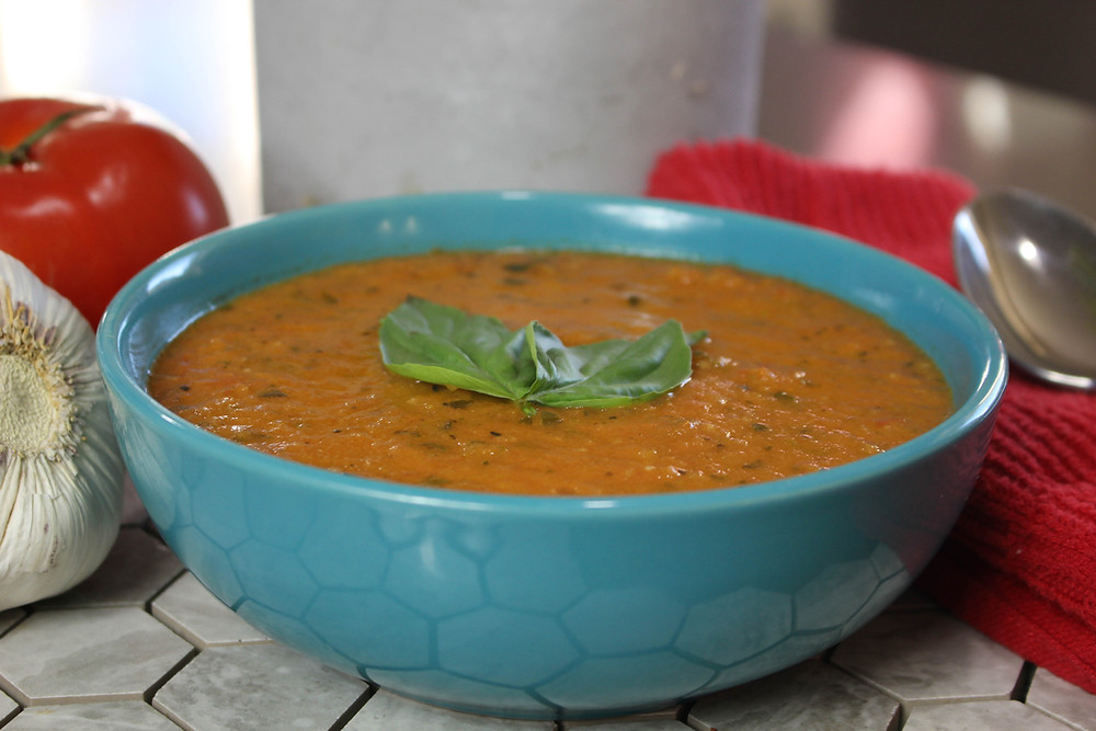 Tomato Basil Soup.  Tomato Basil Soup Recipe.  Fresh Tomatoes