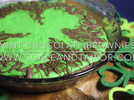 Lucky Mint Chocolate Brownies