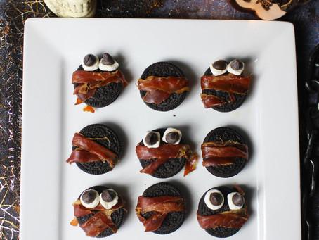 Prosciutto Wrapped Oreos | Halloween Food Ideas