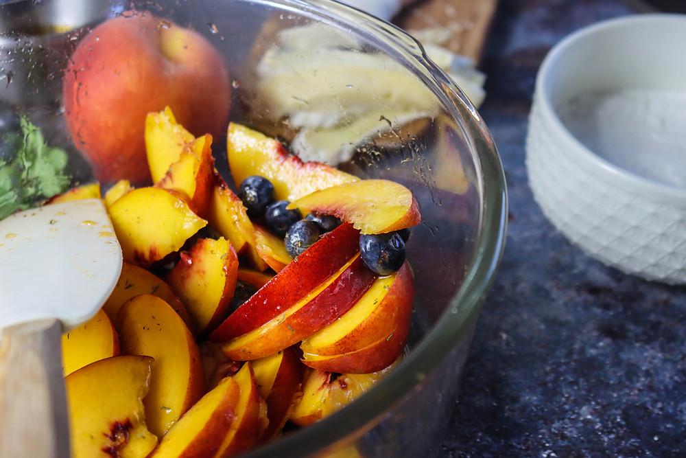 Peach Galette Recipe. Maple Peach Galette