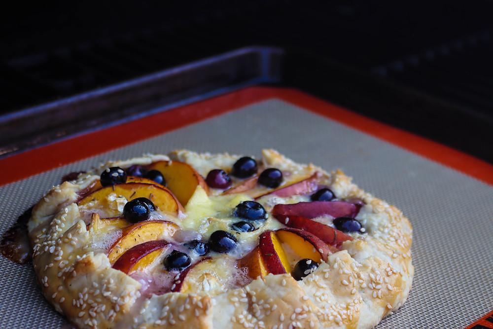 Maple Peach Galette. Peach Galette Recipe.
