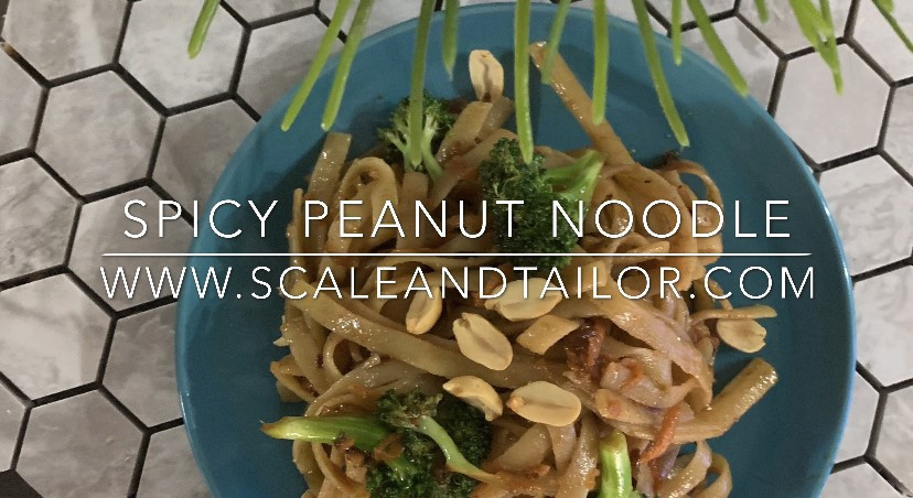 Spicy Peanut Noodle Recipe