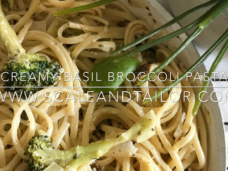 Creamy Basil Broccoli Pasta