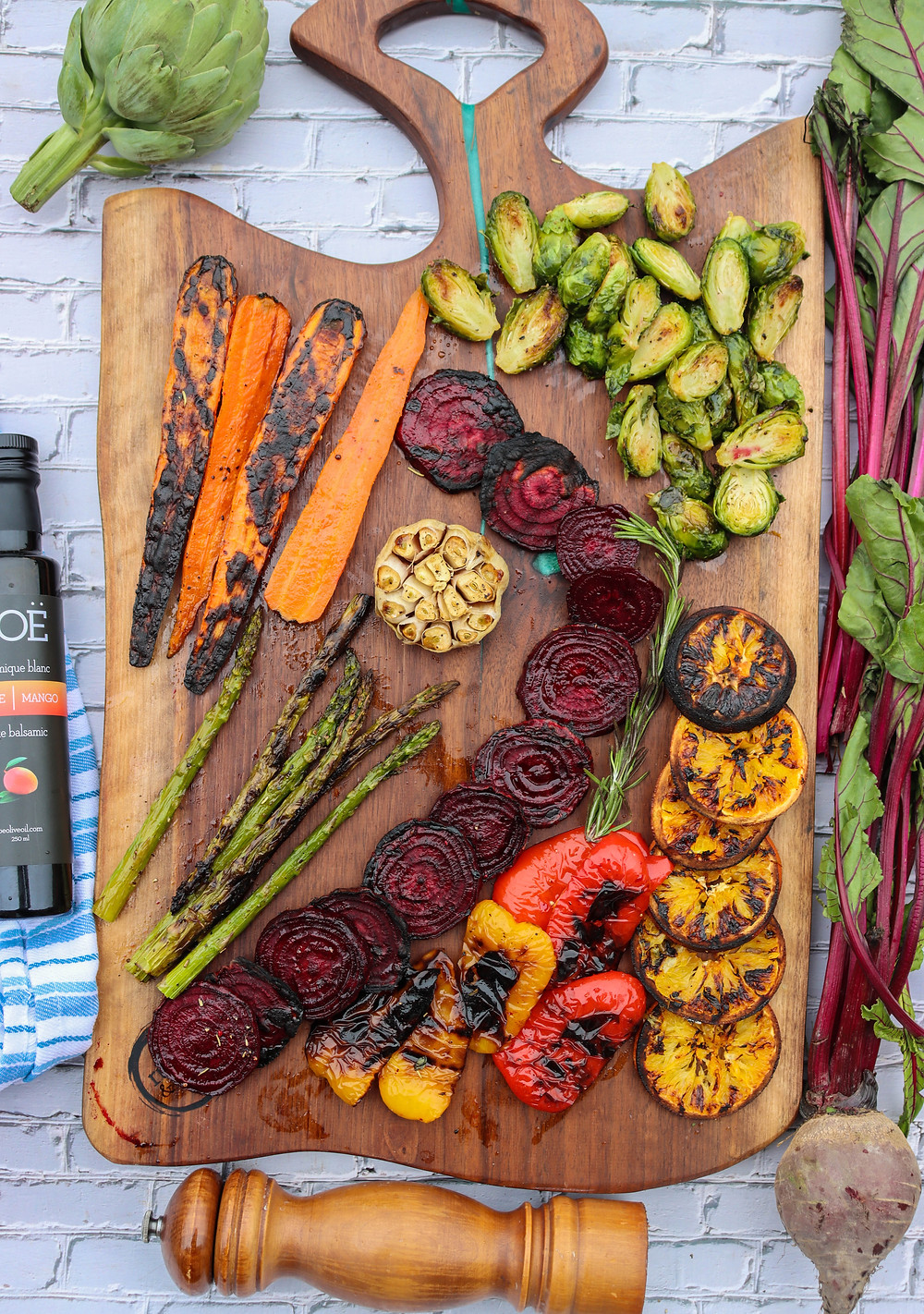 Smoked Veggies Recipe. Balsamic Fire Roasted Vegetables