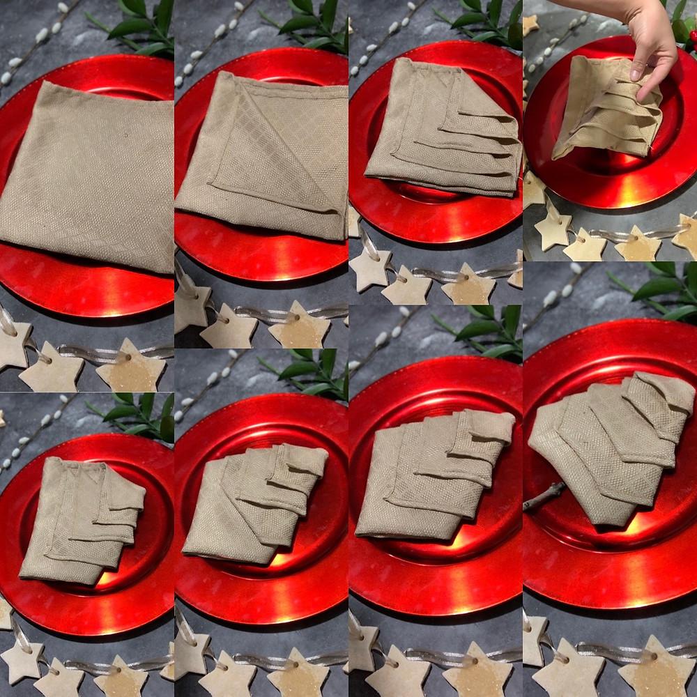 Christmas Tree Napkin.  Napkin Folding Christmas. Napkin Folding Ideas