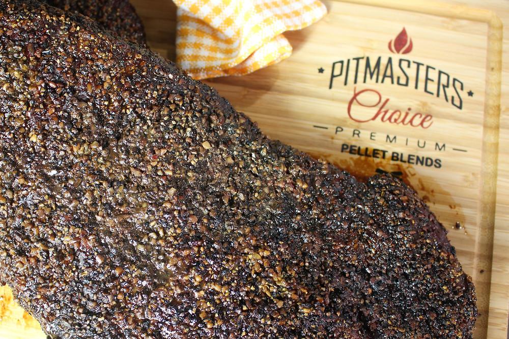 Smoking Brisket.  BBQ Brisket Instructions. Pitmasters Choice Pellets.