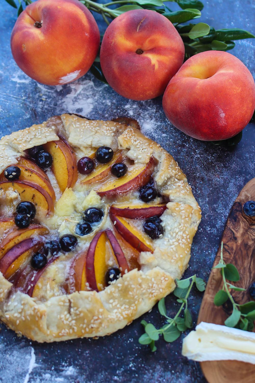 Peach Galette Recipe. BBQ Galette