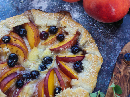 Maple Peach Galette | Peach Galette Recipe | BBQ Galette