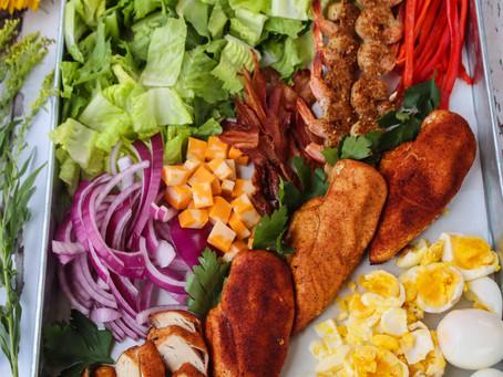 Deconstructed Chicken Cobb Salad | Chicken Cobb Salad