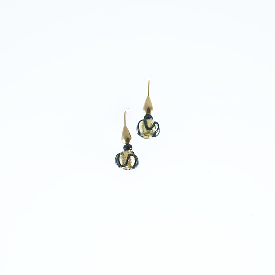 Oro Astratto Tondo Earrings