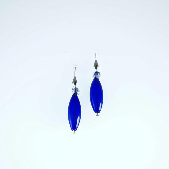 Cobalto Oro Bianco Earrings