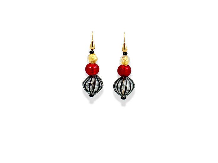 Filigrana Rosso Soffiato Earrings
