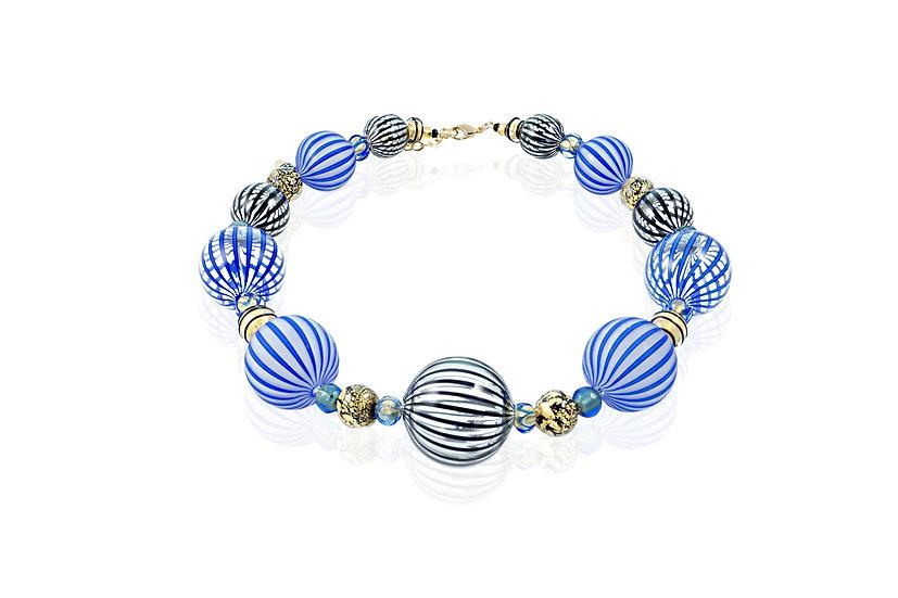 Cobalto Nero Filigrana Necklace