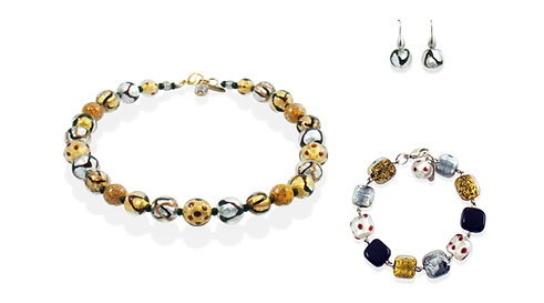 Argento Oro Astratto Jewelry Set