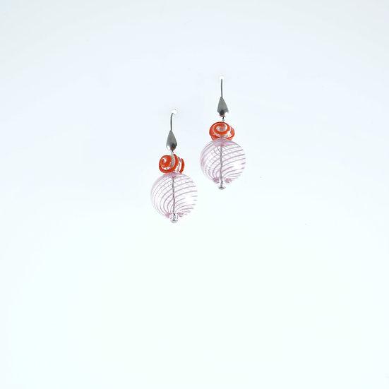 Rosa Rosso Filigrana Earrings