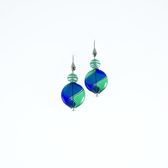 Verde Blu Filigrana Earrings