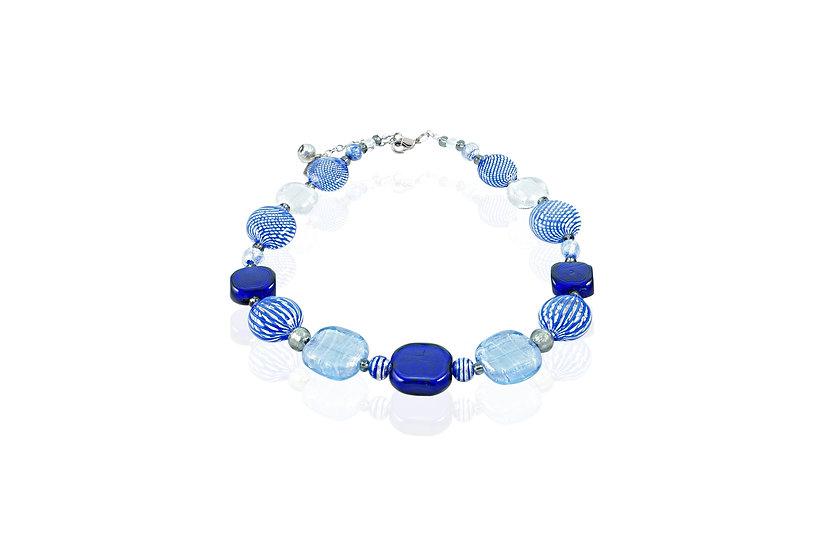 Cobalto Filigrana Square Necklace
