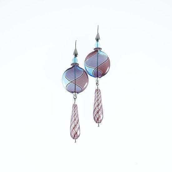 Ametista Blu Filigrana Earrings