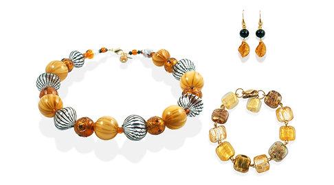 Ambra Avventurina Filigrana Jewelry Set
