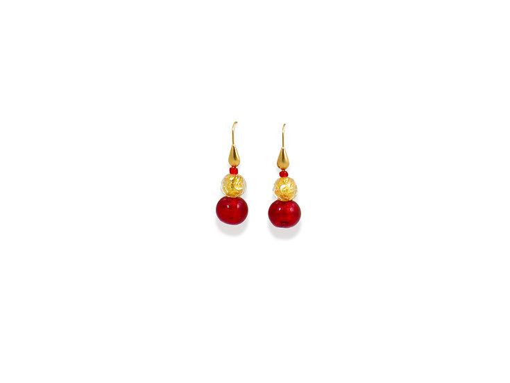 Oro Rubino Earrings