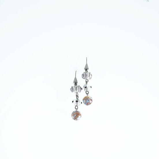 Ametista Oro Bianco Earrings
