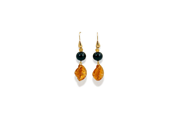 Oro Sommerso Foglia Earrings