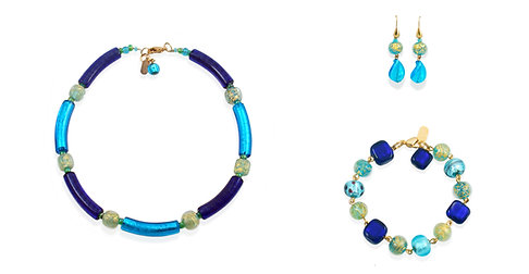 Aquamare Cobalto Sommerso Jewelry Set