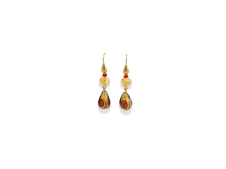 Rubino Pois Gocce Earrings