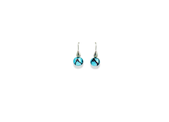 Astratto Bluino Tondo Earrings