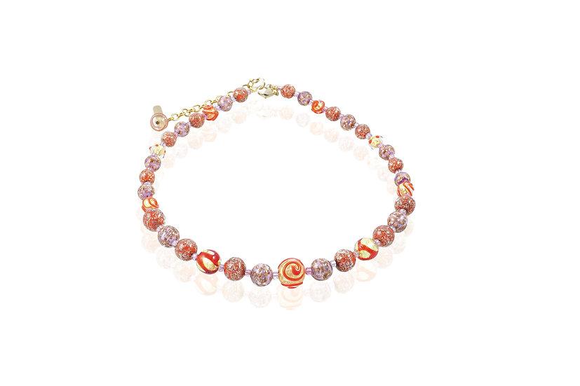 Rubino Rosa Spiral Necklace