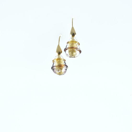 Ambra Goccia Spirale Earrings