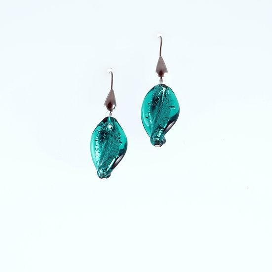 Petrolio Foglia Earrings