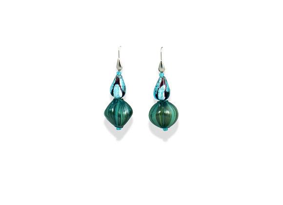 Aquamare  Soffiato Earrings