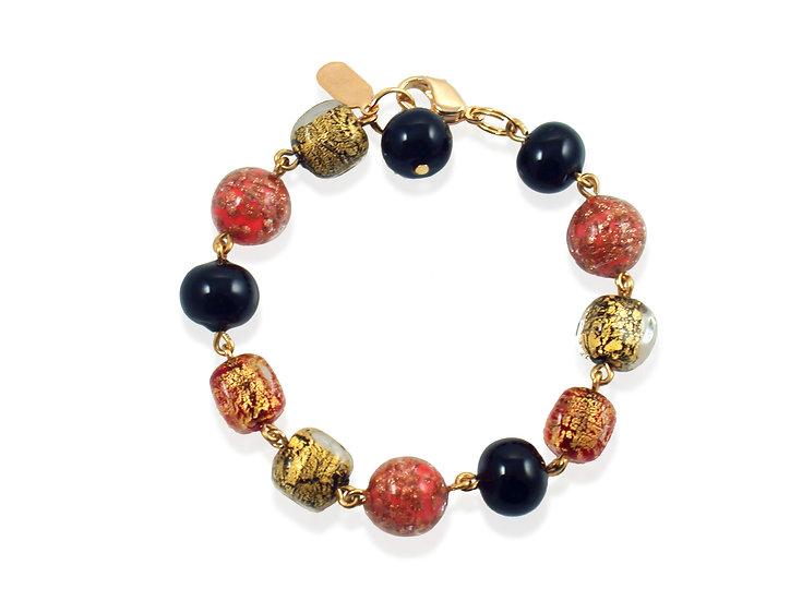 Corallo Oro Avventurina Bracelet