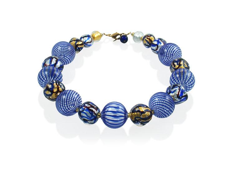 Cobalto Astratto Filigrana Necklace
