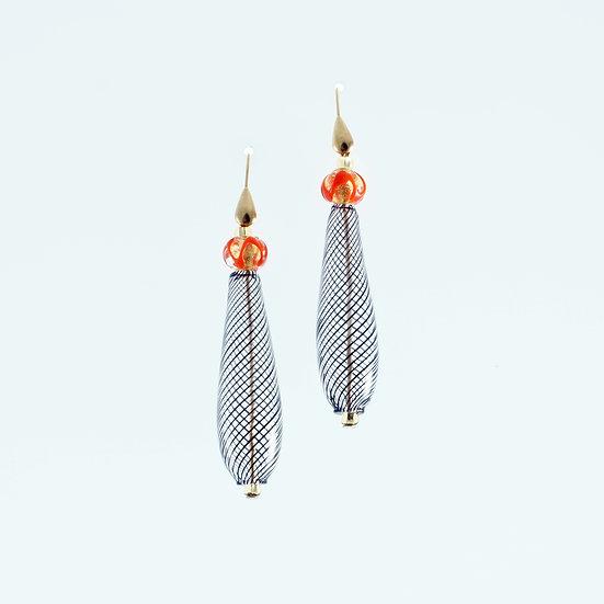 Rosso Filigrana Earrings