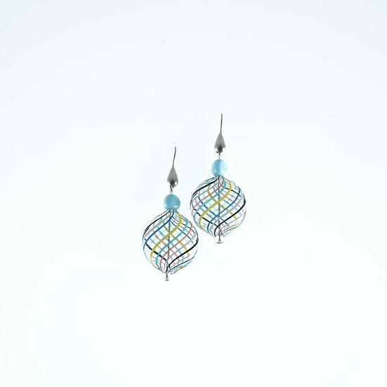 Multicolore Filigrana Earrings
