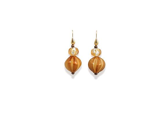 Ambra Avventurina Soffiato Earrings