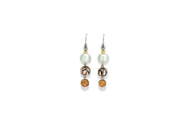Oro Bianco Astratto Earrings