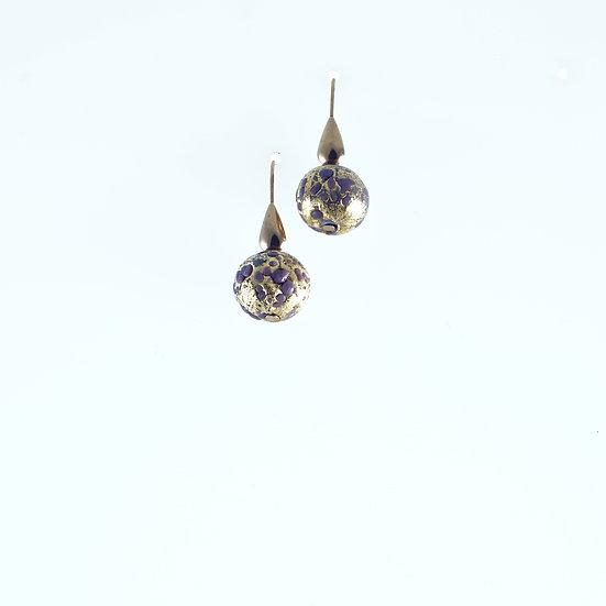 Ametista Macie Oro Earrings